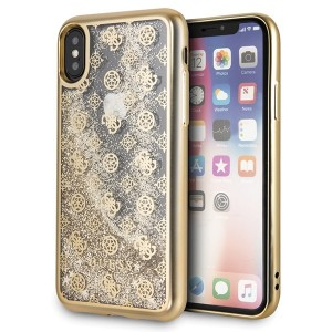 Guess 4G Peony Liquid Glitter iPhone X / Xs Gold GUHCPXPEOLGGO