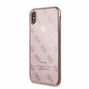Guess 4G Hülle iPhone X / Xs Roségold Transparent GUHCPXTR4GRG