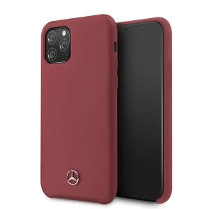Mercedes Hülle iPhone 11 Pro Silikon Rot Innenfutter MEHCN58SILRE