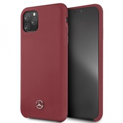 Mercedes Hülle iPhone 11 Pro Max Silikon Rot Innenfutter MEHCN65SILRE