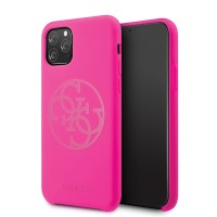 Guess 4G Tone On Tone Schutzhülle iPhone 11 Pro Pink Fuchsia GUHCN58LS4GFU