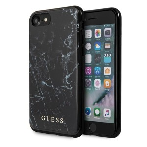 Guess iPhone SE 2020 / iPhone 8 / 7 Marmor Schutzhülle Schwarz GUHCI8PCUMABK