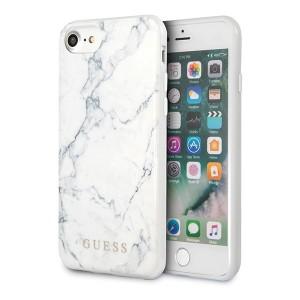 Guess Marble Kollektion iPhone SE 2020 / 8 / 7 weiß GUHI8PCUMAWH