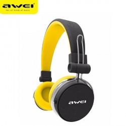 AWEI Bluetooth Kopfhörer mit Mikrofon A700BL schwarz / gelb