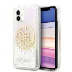 Guess iPhone 11 Liquid Glitter Circle Logo Hülle Cover Case GUHCN61LGIRGP