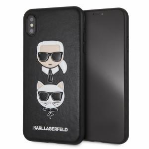 Karl Lagerfeld iPhone Xs Max Hülle Karl & Choupette schwarz KLHCI65KICKC