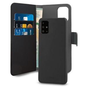 Puro Samsung A71 Wallet Book Handytasche + Hülle 2in1 Schwarz