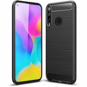 Tech-Protect Carbon Hülle Huawei P40 Lite E schwarz
