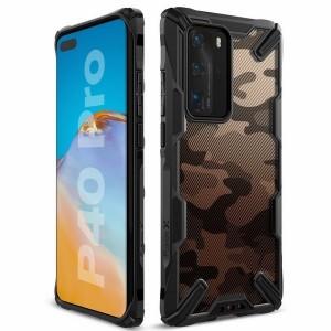 Ringke Fusion X Hülle Huawei P40 Pro como schwarz