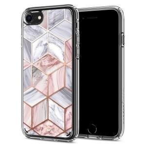 Spigen Ciel Hülle iPhone SE 2020 / iPhone 8 / 7 Pink Marble