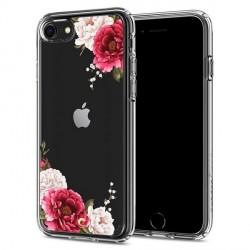 Spigen Ciel Hülle iPhone SE 2020 / iPhone 8 / 7 Red Floral