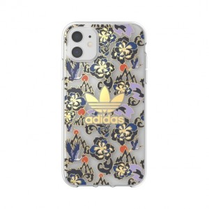 Adidas iPhone 11 Hülle / Case OR Clear CNY AOP blau Gold