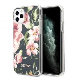 Guess iPhone 11 Pro Hülle Blumen N°3 Marine Blau
