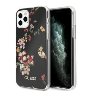 Guess iPhone 11 Pro Hülle Blumen N°4 schwarz