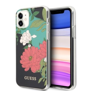 Guess Blumenmuster schwarz N°1 Hülle iPhone 11 GUHCN61IMLFL01