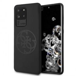 Guess Silikon 4G Ton auf Ton Hülle Samsung Galaxy S20 Ultra schwarz GUHCS69LS4GBK