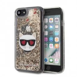 Karl Lagerfeld Glitter Choupette Hülle iPhone SE 2020 / 8 / 7 gold KLHCI8LCGLGO