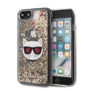 Karl Lagerfeld Glitter Choupette iPhone SE 2020 / 8 / 7 Hülle gold KLHCI8LCGLGO