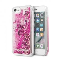 Karl Lagerfeld Hülle Glitter Floatting Charms iPhone SE 2020 / 8 / 7 Pink KLHCI8ROPI