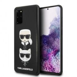 Karl Lagerfeld Samsung Galaxy S20+ Plus Karl & Choupette Hülle schwarz