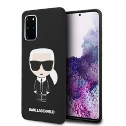 Karl Lagerfeld Silikon Hülle Iconic Samsung Galaxy S20+ Plus Innenfutter schwarz KLHCS67SLFKBK