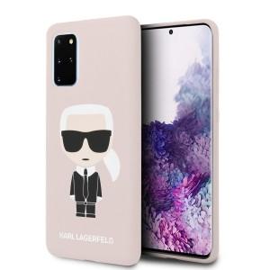 Karl Lagerfeld Iconic Silikon Hülle Samsung Galaxy S20+ Plus Innenfutter rose KLHCS67SLFKPI
