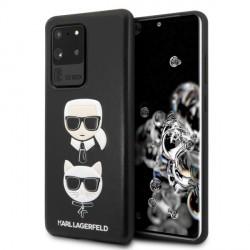 Karl Lagerfeld Samsung Galaxy S20 Ultra Hülle Karl & Choupette schwarz