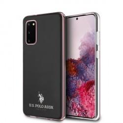 US Polo Hülle Samsung Galaxy S20 Glänzend schwarz USHCS62TPUBK