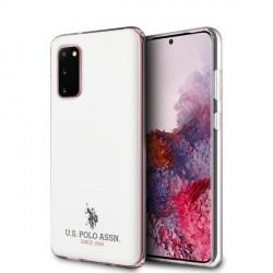 US Polo Hülle Samsung Galaxy S20 Glänzend weiß USHCS62TPUWH