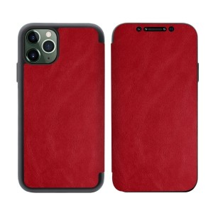Tasche PU Leder Book iPhone 11 rot