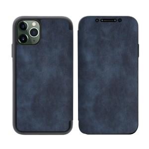 Tasche PU Leder Book iPhone 11 Pro Max blau