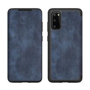 Tasche PU Leder Book Samsung Galaxy A71 A715 blau