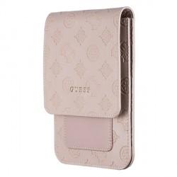 Guess Handytasche 4G Peony Wallet Bag Universal mit Schultergurt Beige GUWBPELLP