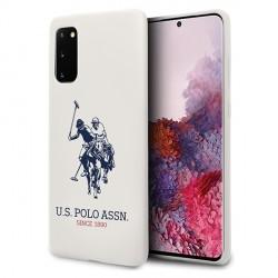 US Polo Hülle Samsung Galaxy S20 Silikon Innenfutter Weiß USHCS62SLHRWH