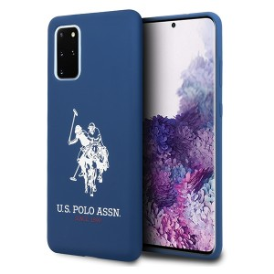 US Polo Hülle Samsung Galaxy S20+ Plus Silikon Innenfutter Navy USHCS67SLHRNV