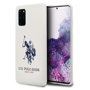 US Polo Hülle Samsung Galaxy S20+ Plus Silikon Innenfutter Weiß USHCS67SLHRWH