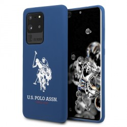 US Polo Hülle Samsung Galaxy S20 Ultra Silikon Innenfutter navy USHCS69SLHRNV