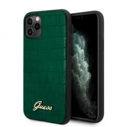 Guess Croco Collection Hülle iPhone 11 Pro Max grün GUHCN65PCUMLCRDG
