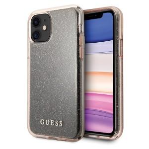 Guess iPhone 11 Transparent Glitter Hülle pink GUHCN61PCGLPI