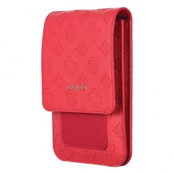 Guess Handytasche 4G Peony Wallet Bag Universal mit Schultergurt Rot GUWBPELRE
