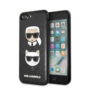 Karl Lagerfeld iPhone 8 Plus / 7 Plus Hülle Karl & Choupette schwarz KLHCI8LKICKC