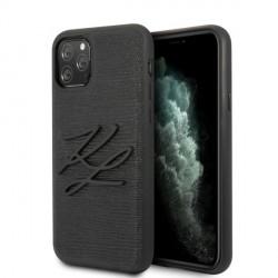Karl Lagerfeld iPhone 11 Pro Lizard Hülle Schwartz KLHCN58TJKBK
