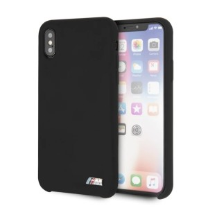 BMW iPhone XS / X Hülle Silicone M Collection Schwarz Innenfutter BMHCPXMSILBK