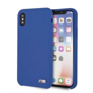 BMW iPhone XS / X Hülle Silicone M Collection Navy Innenfutter BMHCPXMSILNA