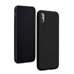 Silicone Hülle Huawei P40 Lite mit Innenfutter schwarz