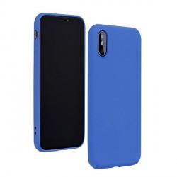 Silicone Hülle Huawei P40 Lite mit Innenfutter Blau