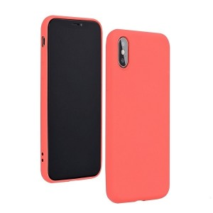 Silicone Hülle Huawei P40 Lite mit Innenfutter Rose