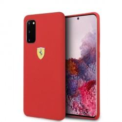 Ferrari Hülle Samsung Galaxy S20 Silicone Rot FESSIHCS62RE