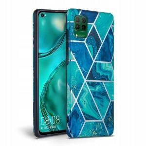 Marble Tech-Protect Hülle Huawei P40 Lite blau
