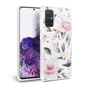 Tech-Protect Hülle Samsung Galaxy A415 A41 Floral weiß